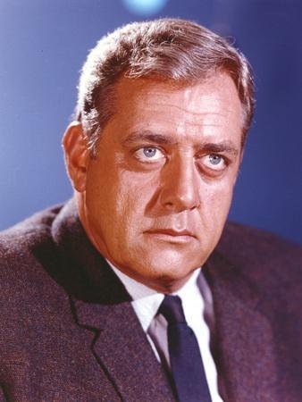 Raymond Burr in Tuxedo Close Up Portrait