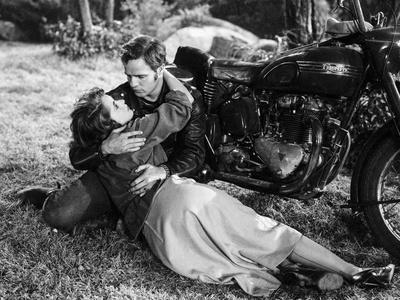 Scene from The Wild One with Marlon Brando