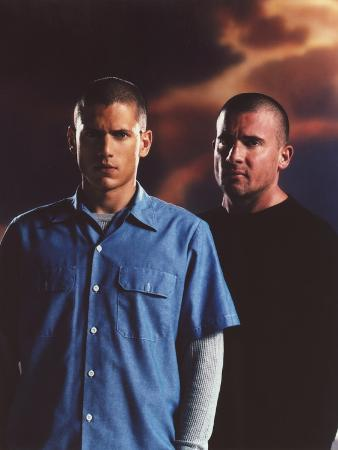 Prison Break's Wentworth Miller in Blue Polo Portrait