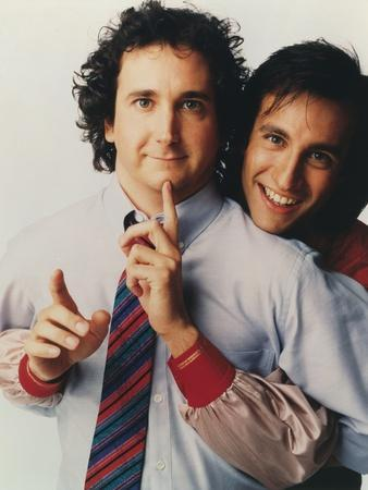 Perfect Strangers in Formal Long Sleeves with Tie Portrait with White Background