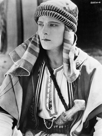 Rudolph Valentino Portrait in Arabic Costume