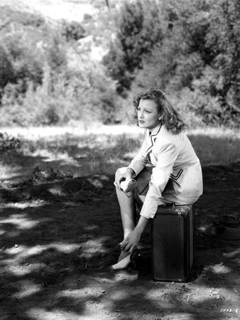 Virginia Grey sitting on a Chair Portrait