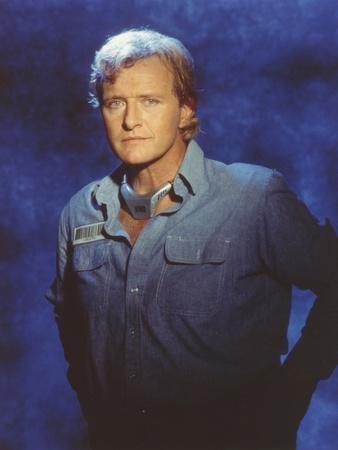 Rutger Hauer Posed with a Denim Jacket