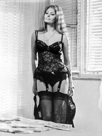 Sophia Loren wearing a Lingerie