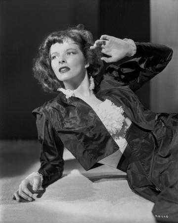 Katharine Hepburn in Black Dress Portrait