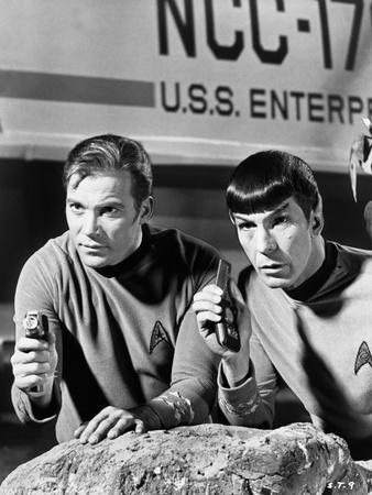 Spock and Kirk, Phasers set to Stun