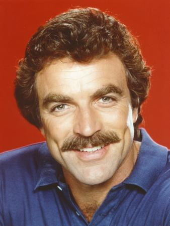 Tom Selleck in Blue Polo Shirt Close-up Portrait