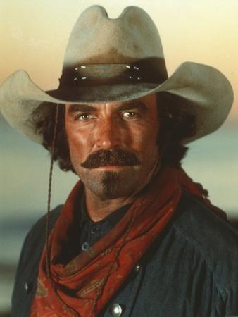 Tom Selleck wearing Green Sleeves with Red Scarf with Hat
