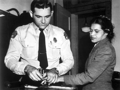 Rosa Parks on a Long Sleeve and Having Fingerprint Stamps
