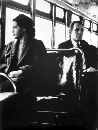 Rosa Parks sitting on a Public Vehicle