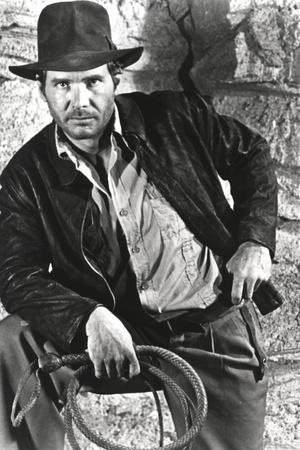 Harrison Ford in a Cowboy's Attire with Whip