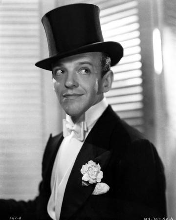 Fred Astaire smiling in Top Hat and White Tie