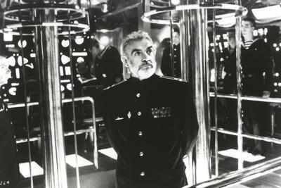 Sean Connery Posed in General Uniform with Man