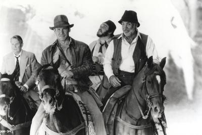Harrison Ford Riding a Horse with Friends