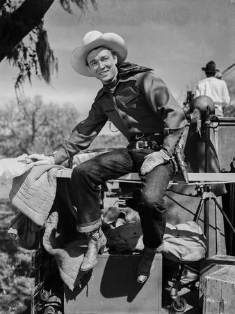 Roy Rogers Seated in Cowboy Attire