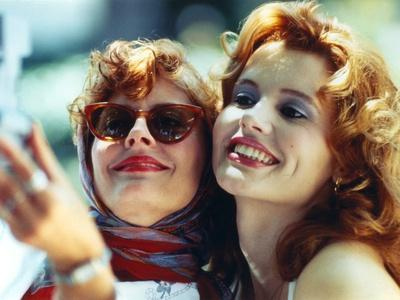 Thelma & Louise in White Dress