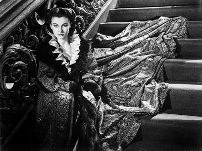 Vivien Leigh sitting on a Staircase