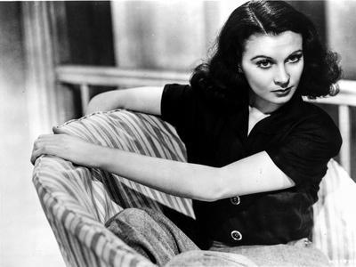 Vivien Leigh Seated on Chair in Blouse
