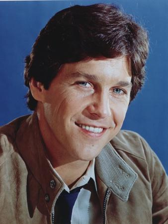 Tim Matheson smiling in Brown Coat Portrait