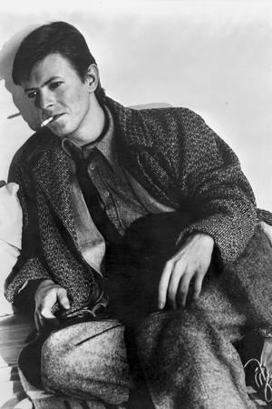 David Bowie Close Up Portrait Showing His Tongue