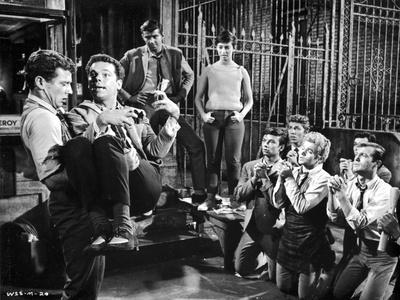 West Side Story People Begging to a Man