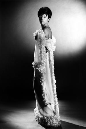 Diahann Carroll Posed in Furry Dress