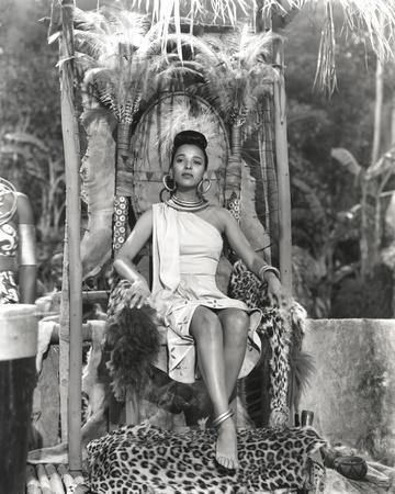Dorothy Dandridge Seated in Classic with Amazon Attire