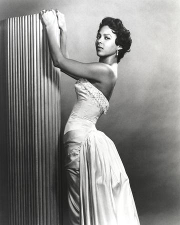 Dorothy Dandridge Posed in Classic with Gown