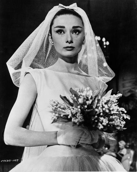 Audrey Hepburn Funny Face Wedding Dress Photo By Movie Star News