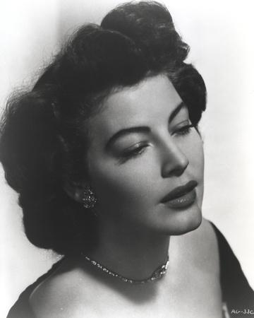 Ava Gardner Close Up Portrait with Silver Necklace