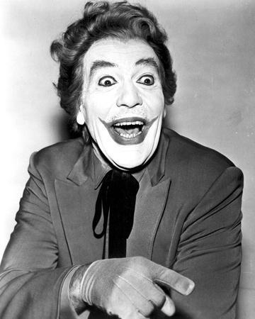 Classic Portrait of Batman Movie Close Up Portrait of Joker