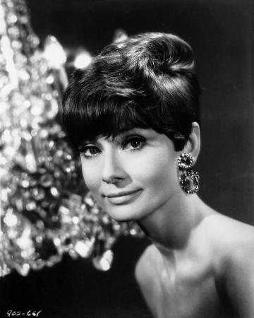 Audrey Hepburn Portrait Diamond Earrings