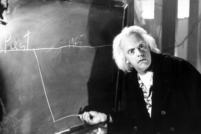 Christopher Lloyd in Black Suit Black and White Portrait