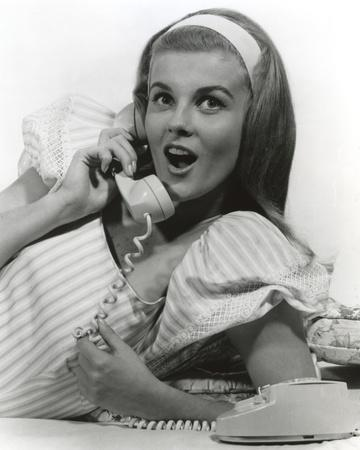Ann Margret Talking Over the Phone in Classic Portrait