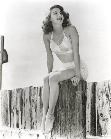 Ava Gardner Posed in Lingerie Looking Sideways