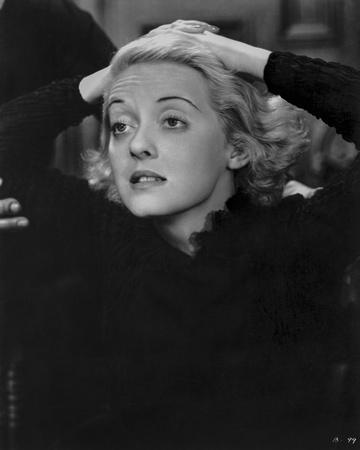 Bette Davis Portrait in White Wimple and Black Long Sleeve Tunic