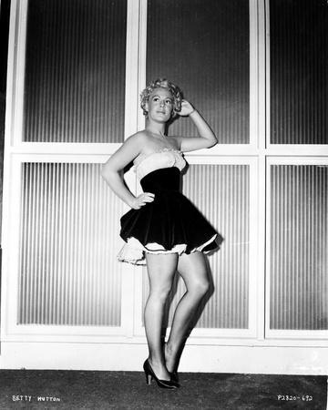 Betty Hutton on a Tube Dress posed