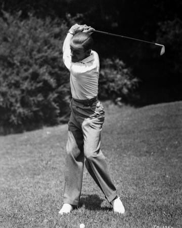 Fred Astaire Playing Golf, Swinging Golf Club