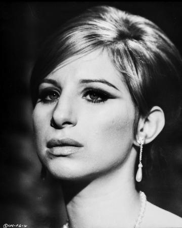 Barbra Streisand Close Up Portrait in Classic