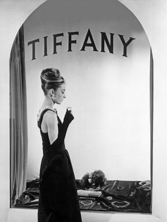 Audrey Hepburn Publicity Still in Front of Tiffany's Window