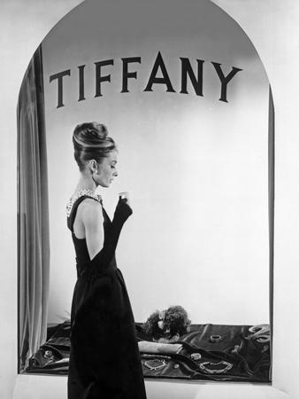 Audrey Hepburn Publicity Still in Front of Tiffany's Window