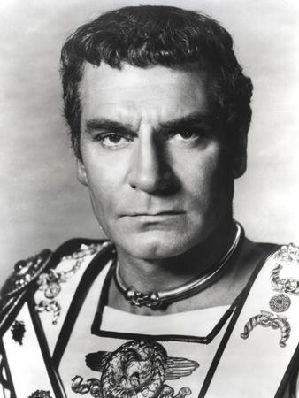 Laurence Olivier in Gladiator Outfit Black and White Portrait