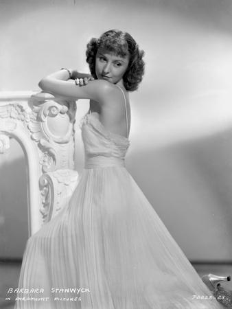 Barbara Stanwyck Side View in Wedding Dress Classic Portrait