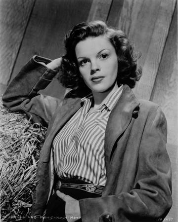Judy Garland portrait with jacket and stripped shirt +tograph Hi...