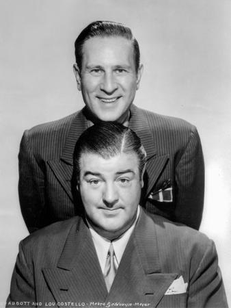 Abbott & Costello Posed in Suit While smiling in Classic Portrait
