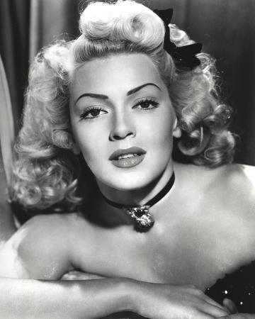 Lana Turner Close Up Portrait with Ribbon and Amulet Necklace
