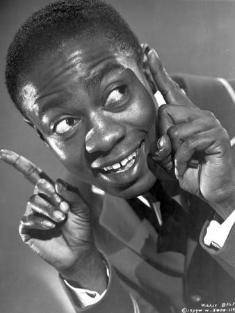 Willie Best Posed in Nice Suit With Two Pointing Fingers Raise