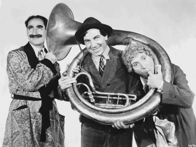 Marx Brothers Posed in Classic Portrait Playing Musical Instruments