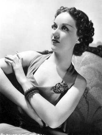 Fay Wray Posed with Hands Crossed and Old Fashioned Hairdo