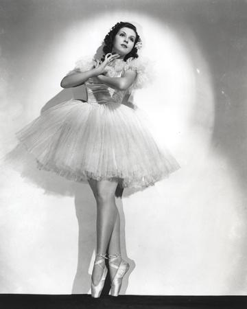 Ann Miller wearing a Ballet Dress in a Classic Portrait